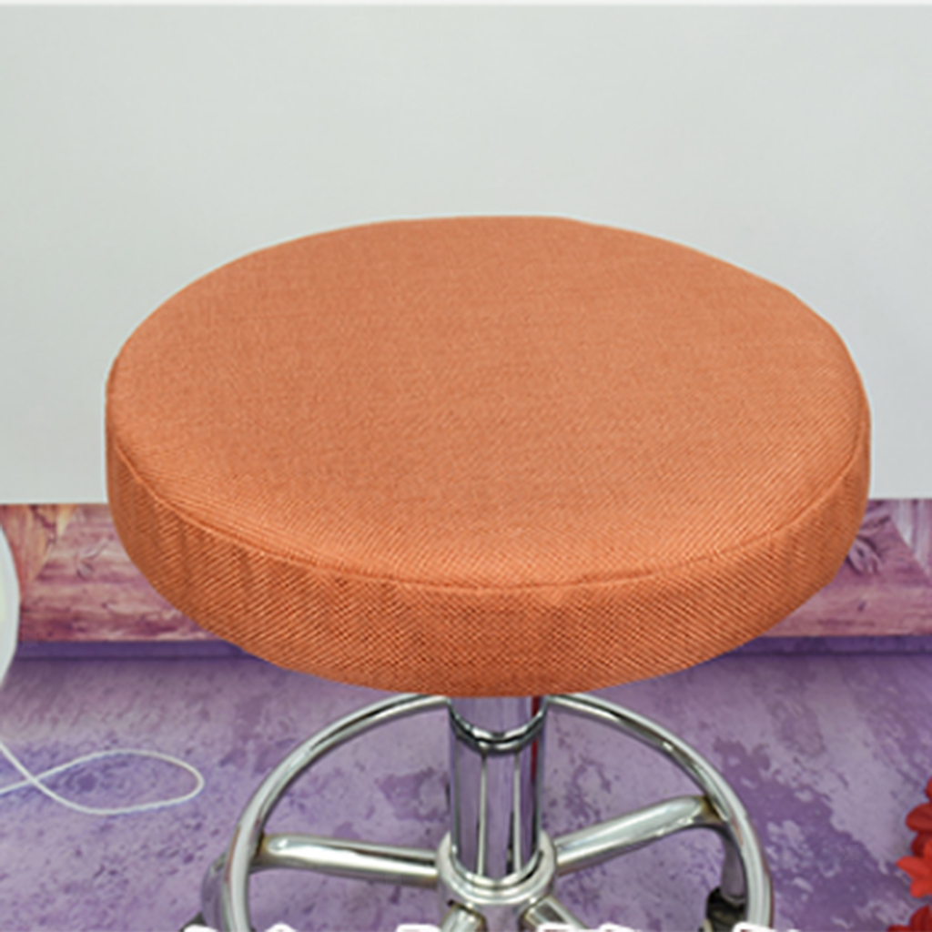 Bar Stool Cover Round Seat Replacement Chair Cover Kitchen Pub Office 7color Ebay