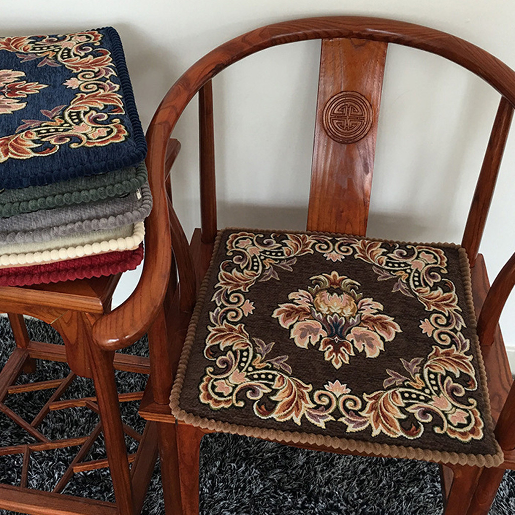 Classic Retro Chair Cushions Seat Pad With Floral Patterns