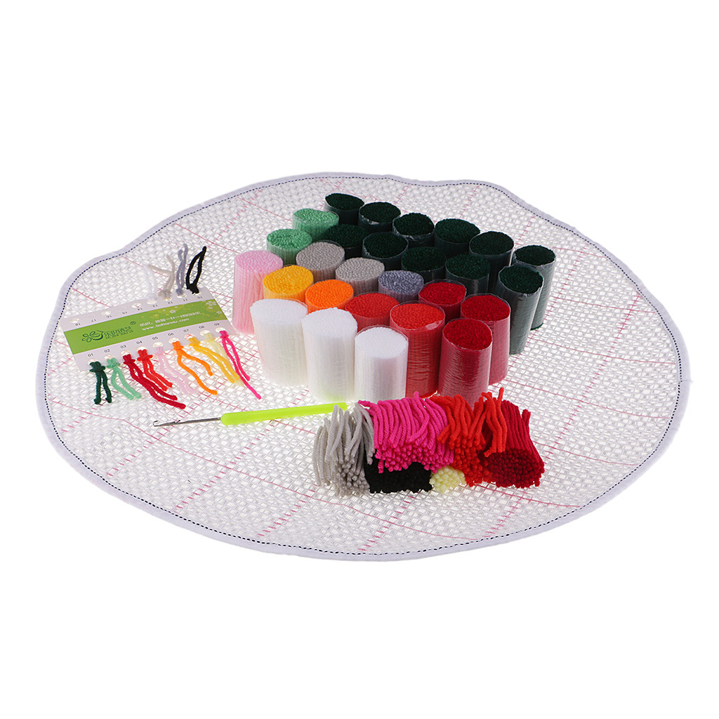thumbnail 50 - Latch Hook Rug Making Kits for Kids/Adults Hand Embroidery Cushion Needlecrafts