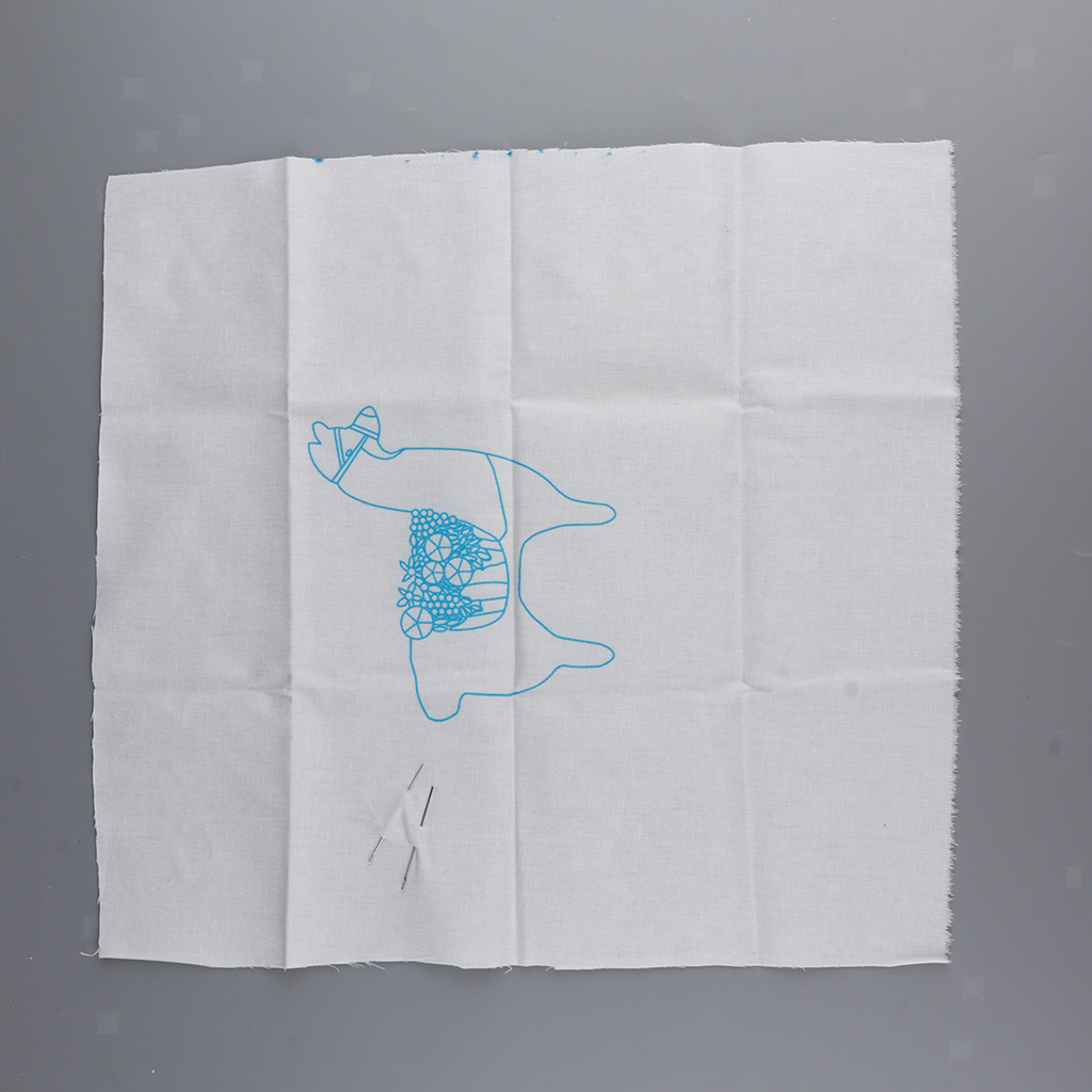Cute-Alpaca-Pattern-DIY-Needlework-Kits-Stamped-Embroidery-Making-Kits thumbnail 6