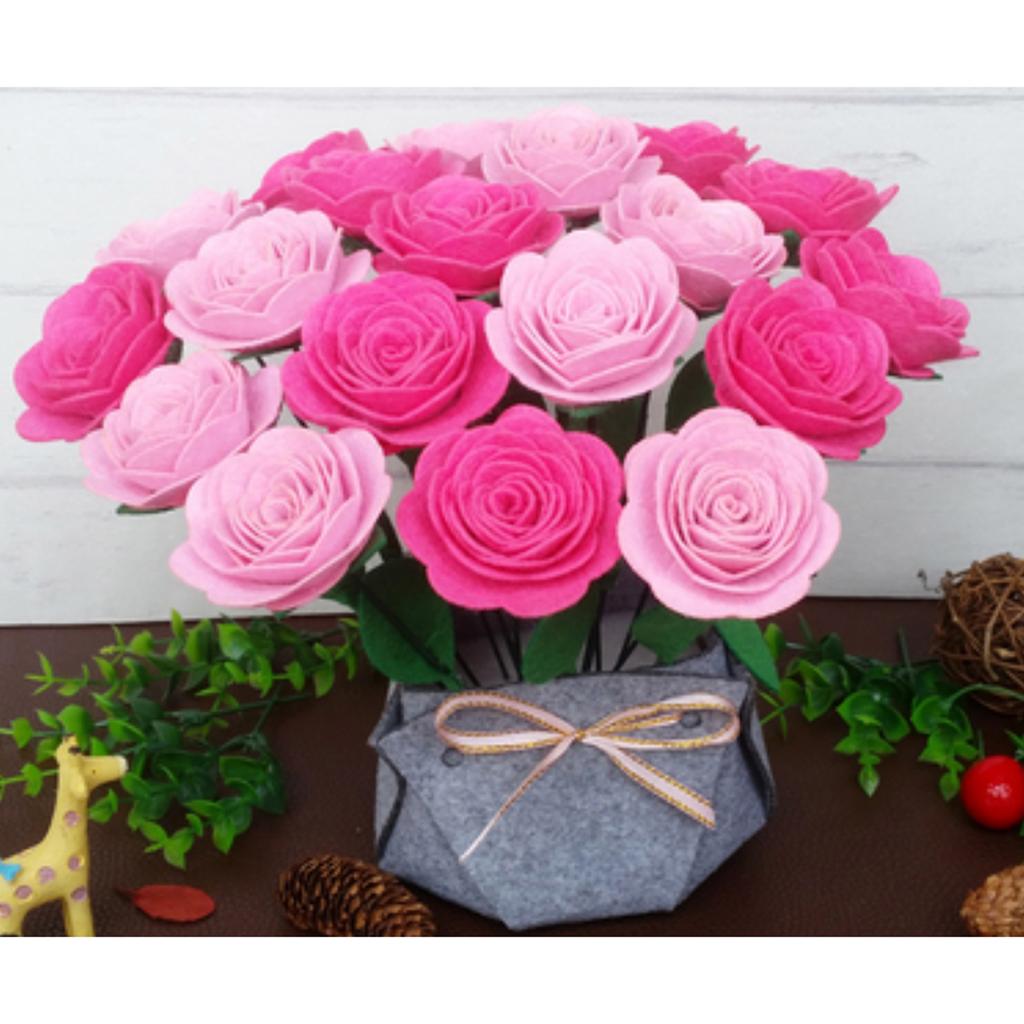 Fake Flower Felt Making Kits for Beginners Starter Needle Felting Supplies