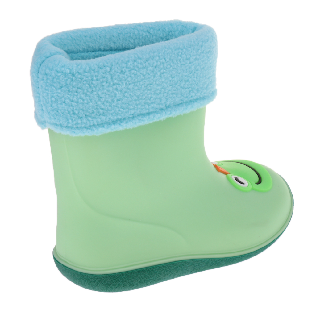 Wellies Unisex Kids Rain Rainy Snow Boots Shoes Socks Children Baby Boy Girl