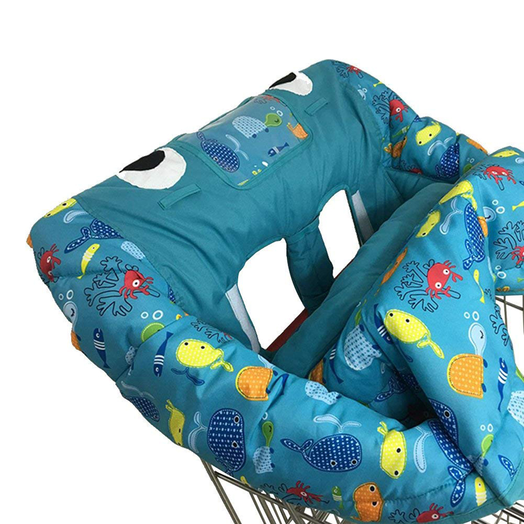 Shopping Cart Cover ,High Chair for Baby Covers ,Safety Cushion ,Shark Play Pad