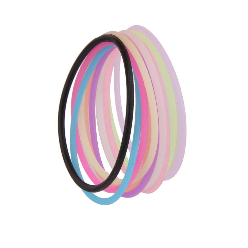 10pcs Fashion Silicone Elastic Rubber Band Bracelet