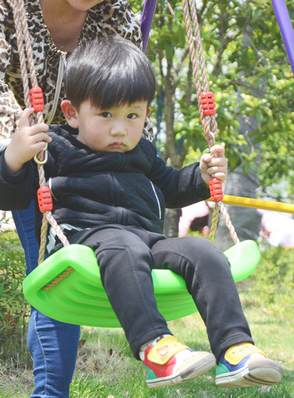 Garden-Swing-Set-Seat-Rope-Strap-Connector-Chain-Kid-Adult-Outdoor-Fun-Play-Game miniatuur 14