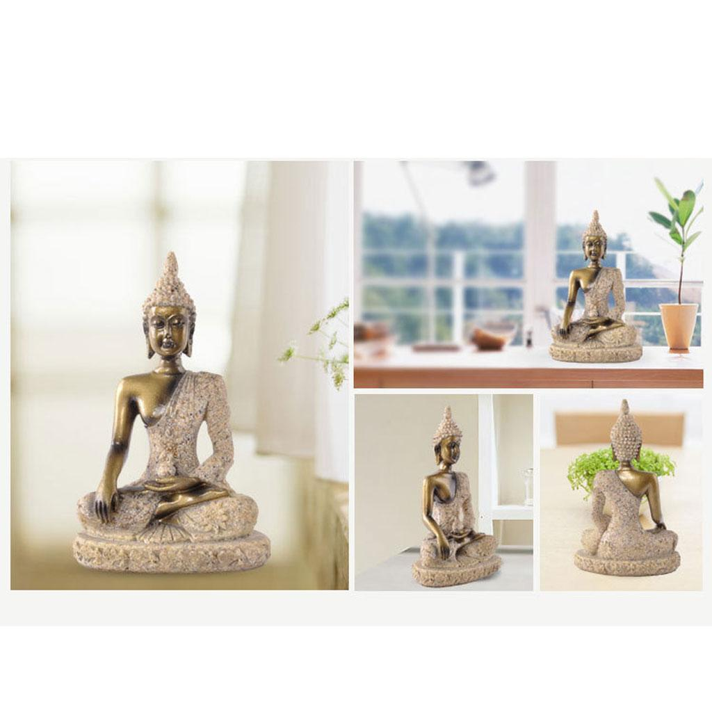 Sandstone-Carving-Statue-Sculpture-Buddha-Animal-Hand-Carved-Figurine-Decor thumbnail 12