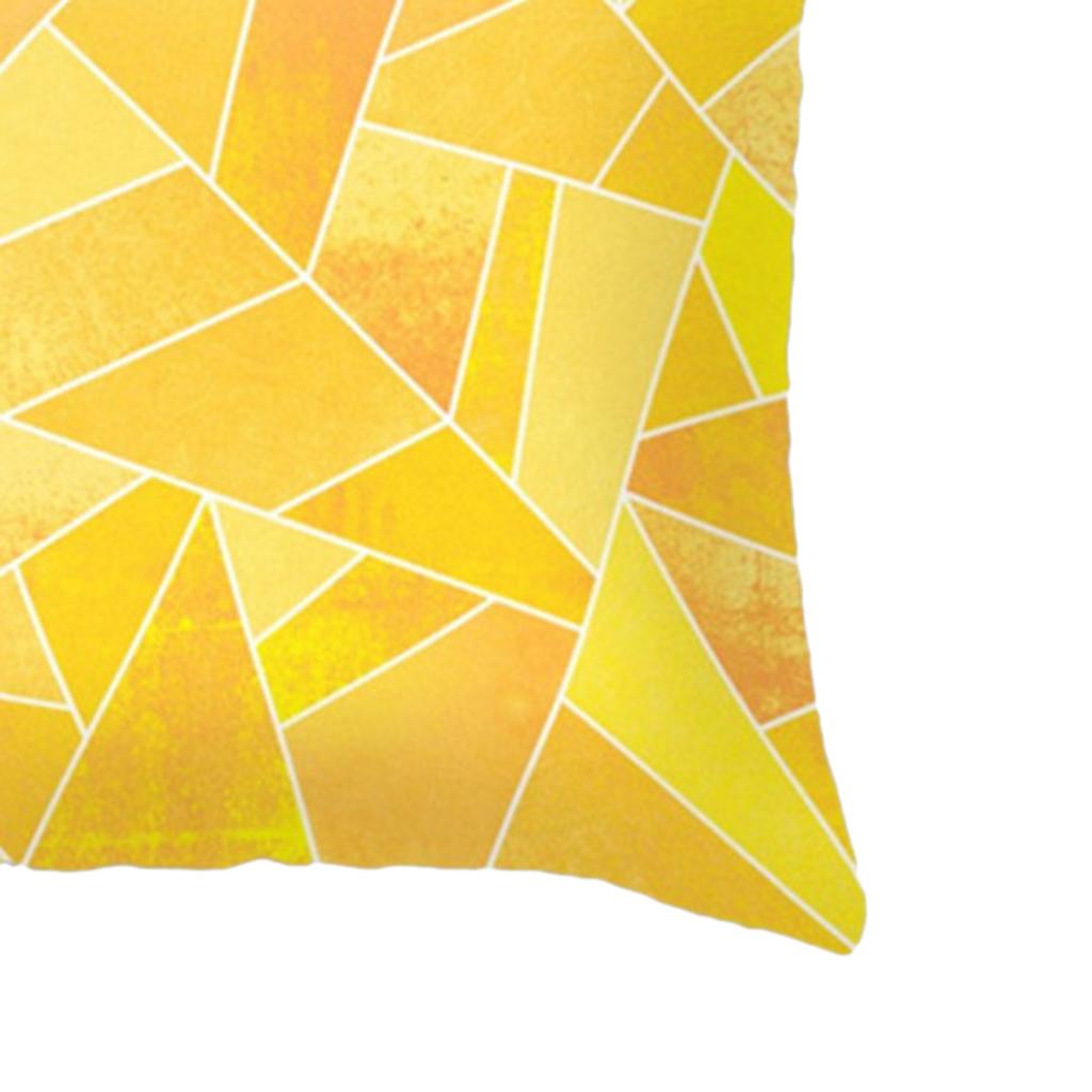 Housse-De-Coussin-En-Lin-Forme-Carre-Geometrique-Design-Moderne-Couverture miniature 3