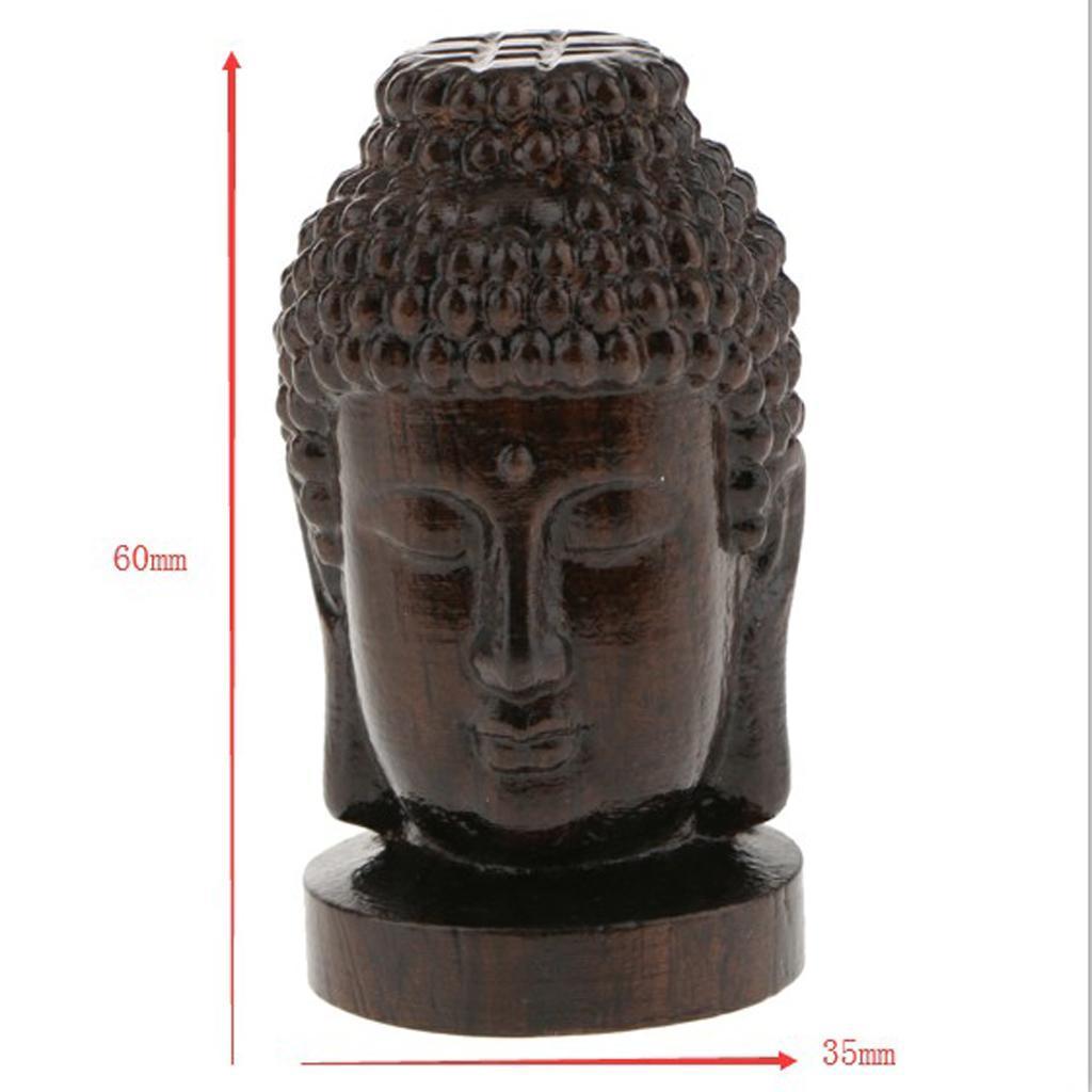 miniatura 5 - Statua Buddista Figurina Artigianale Ornamenti Supporto Tavolo Legno
