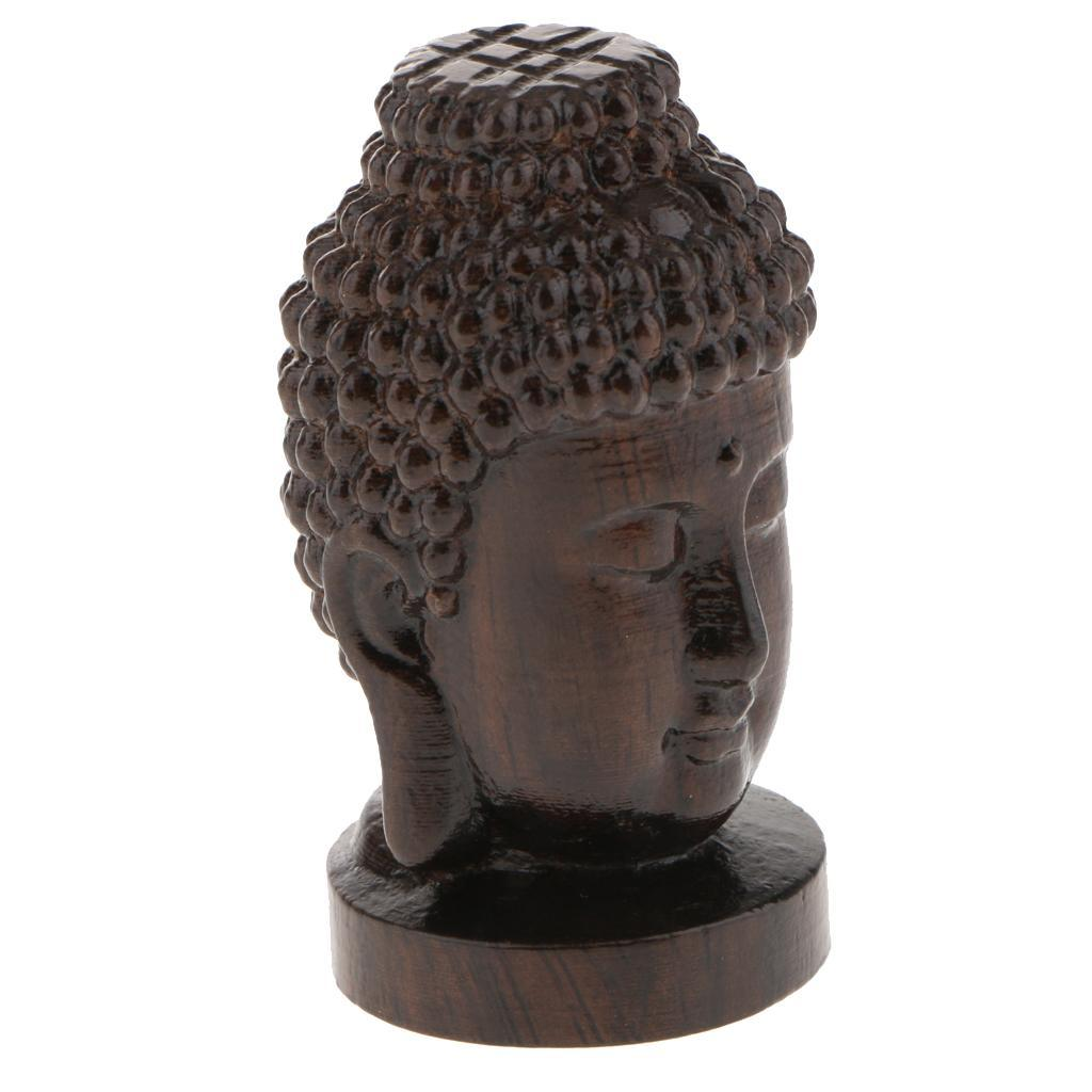 miniatura 3 - Statua Buddista Figurina Artigianale Ornamenti Supporto Tavolo Legno