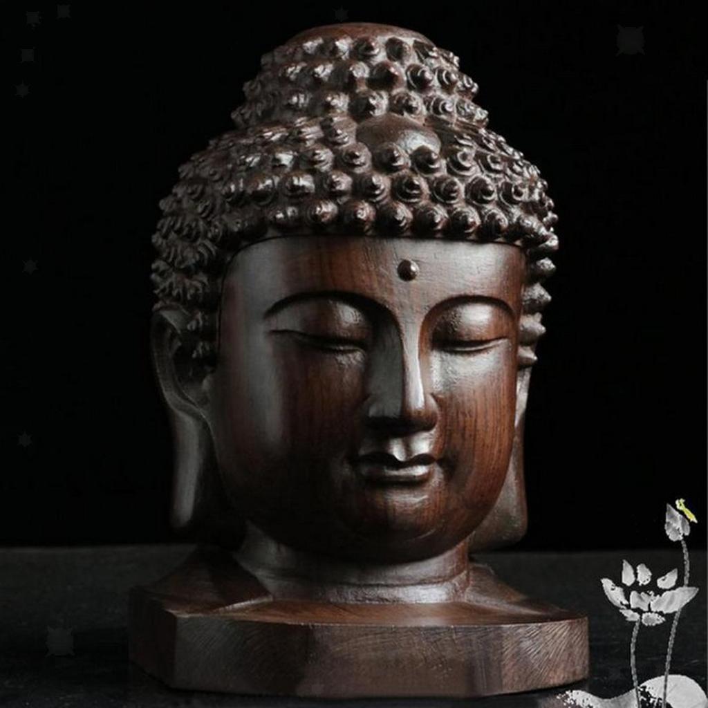 miniatura 4 - Statua Buddista Figurina Artigianale Ornamenti Supporto Tavolo Legno