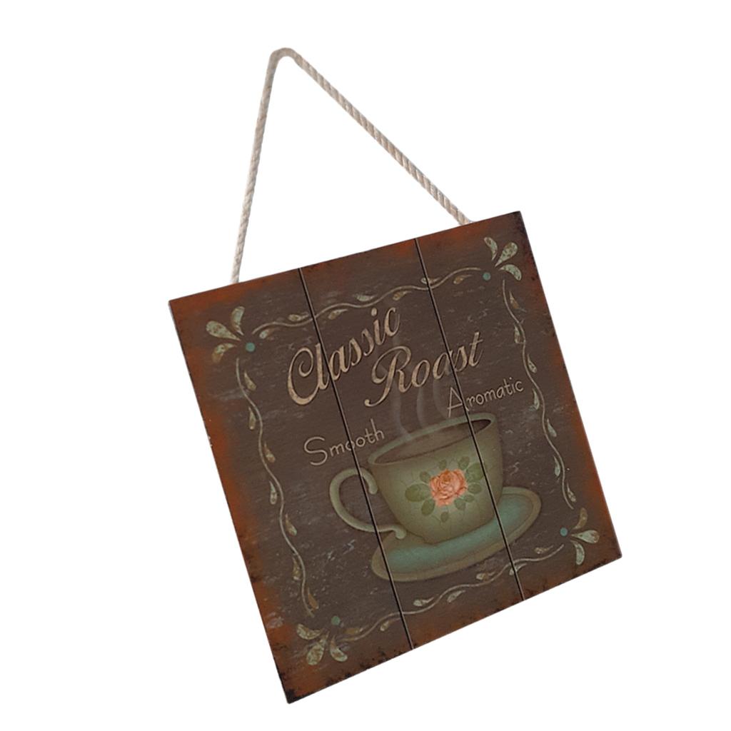 Targa-di-legno-del-segno-d-039-annata-per-la-decorazione-del-caffe miniatura 15