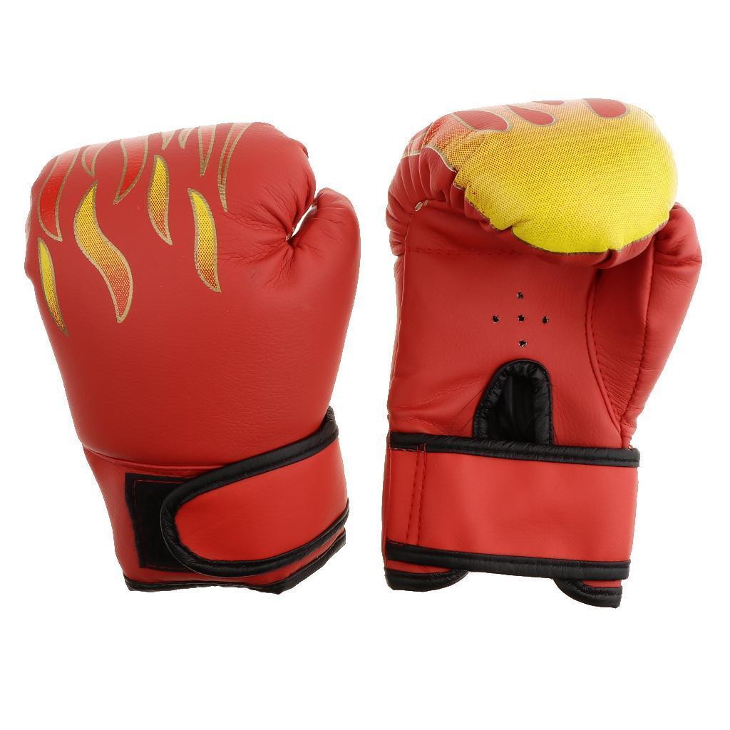 Guanti-da-MMA-Unisex-Guanto-Da-Boxe-In-Pelle-Per-Kickboxing-Muay-Thai miniatura 7