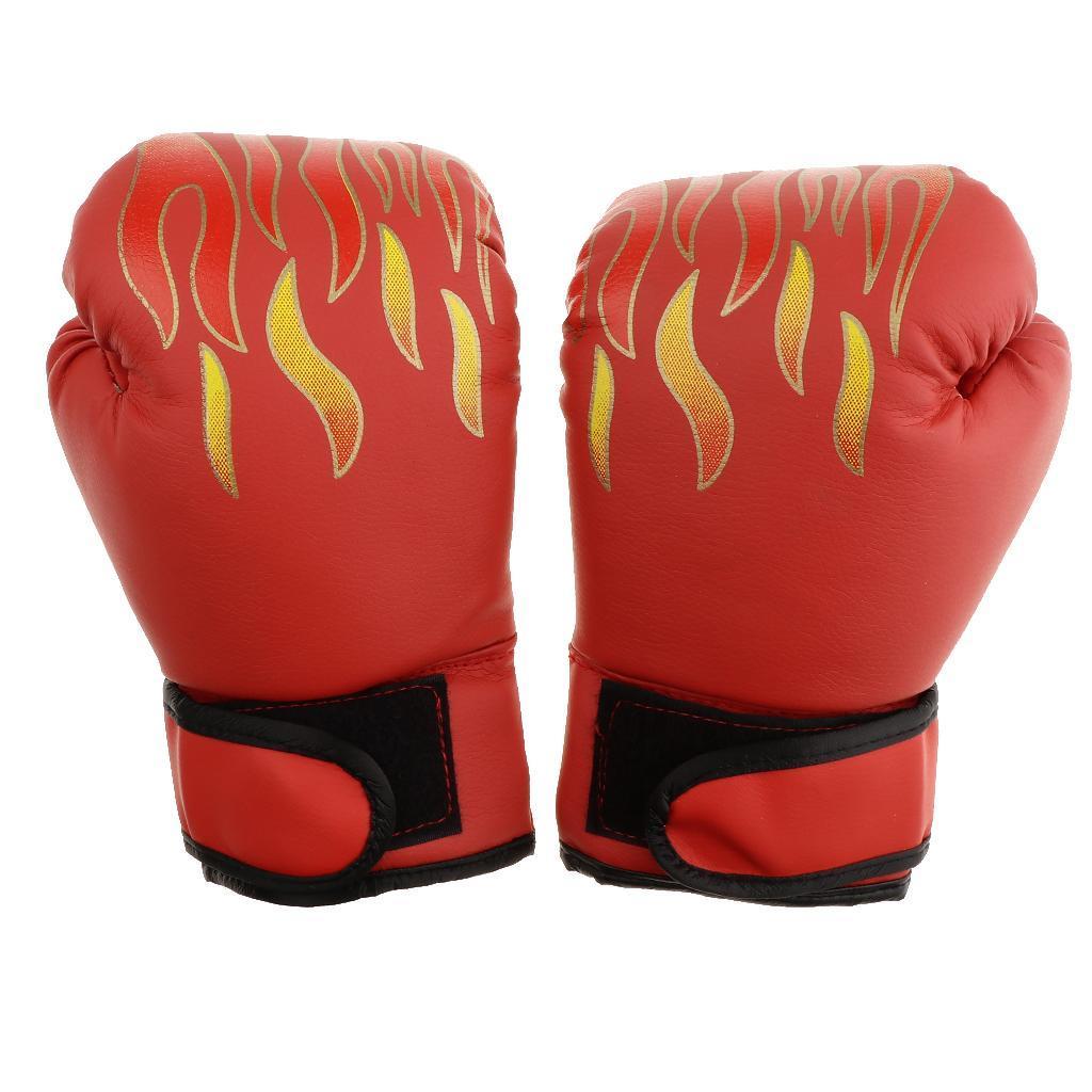 Guanti-da-MMA-Unisex-Guanto-Da-Boxe-In-Pelle-Per-Kickboxing-Muay-Thai miniatura 8
