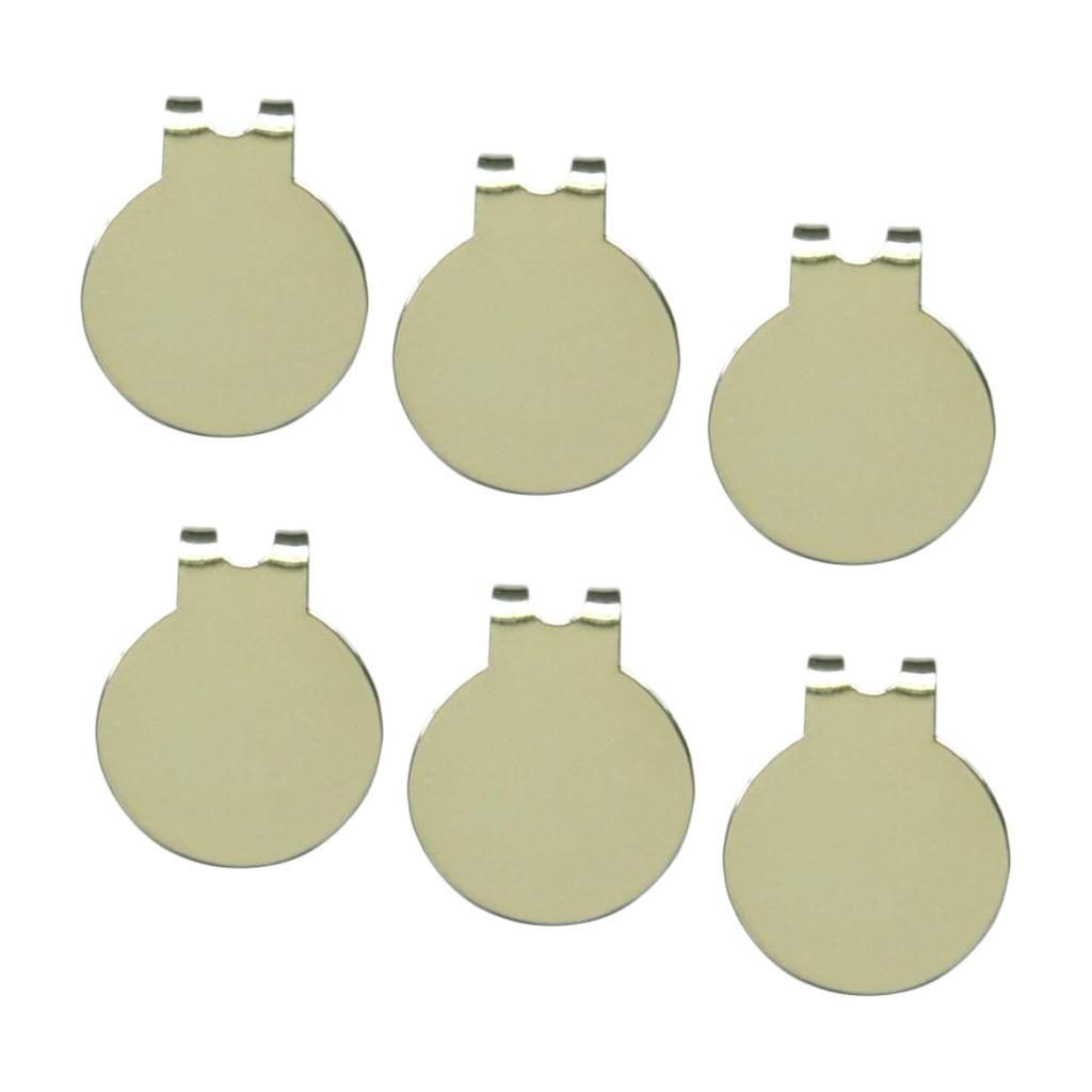 6-Pack-Magnetic-Standard-Golf-Ball-Marker-Hat-Clip-Training-Aids-Accessories thumbnail 3