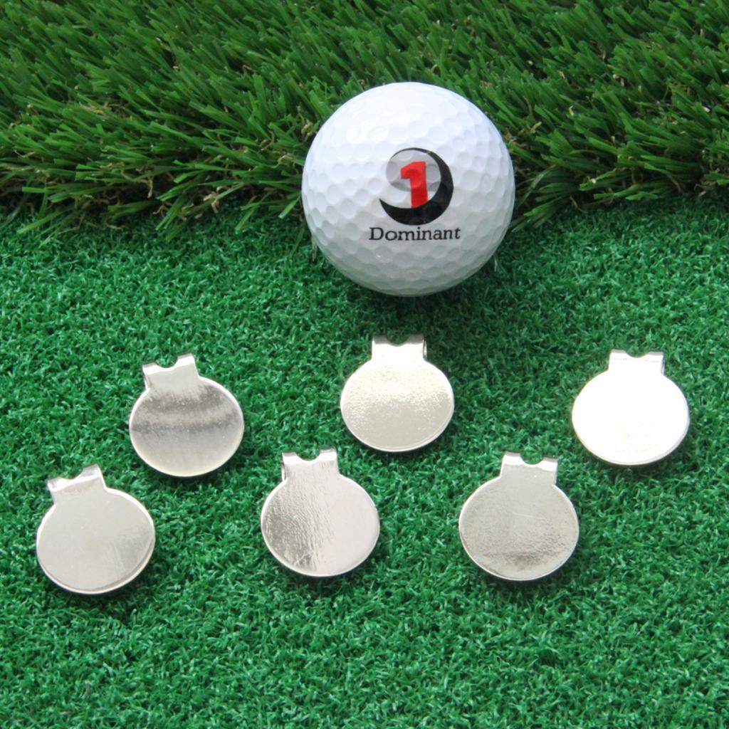 6-Pack-Magnetic-Standard-Golf-Ball-Marker-Hat-Clip-Training-Aids-Accessories thumbnail 4