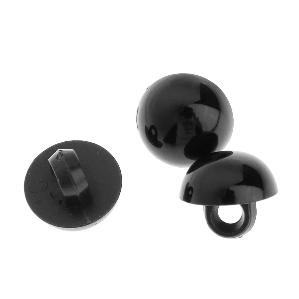 miniature 11 - 100-Pcs-Champignon-Bouton-Dome-Couture-Animaux-Yeux-Poupee-Diy-Artisanat