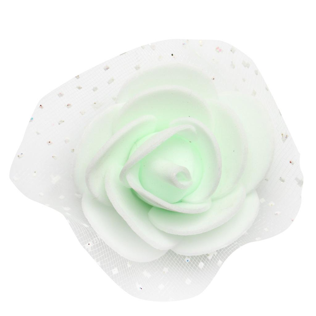 100-Pieces-Romantique-Mousse-Artificielle-Rose-Tete-Fleurs-De-Mariage miniature 17