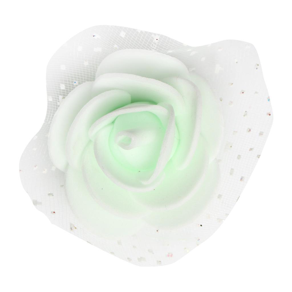 100-Pieces-Romantique-Mousse-Artificielle-Rose-Tete-Fleurs-De-Mariage miniature 18