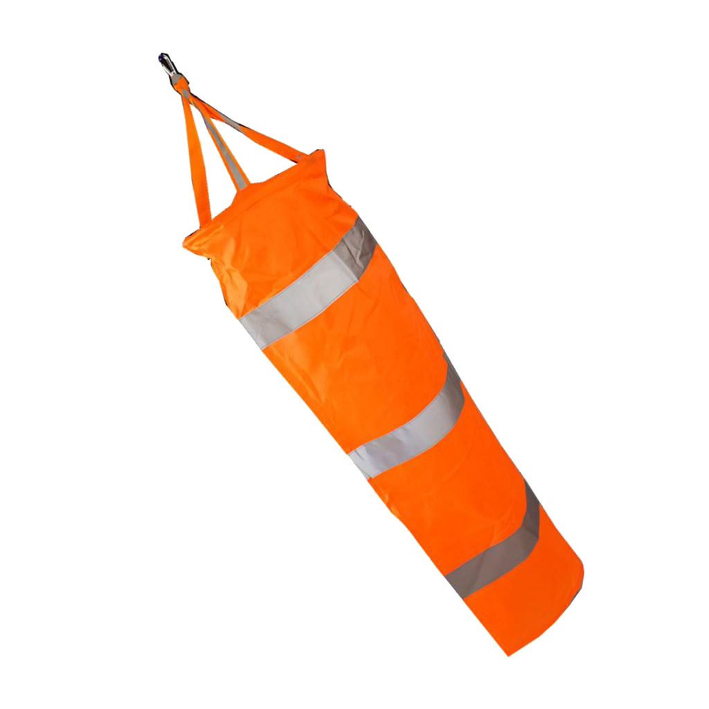 Airport-Windsock-Wind-Cone-60-80-100cm-Outside-Wind-Sock-w-Reflective-Belts thumbnail 6