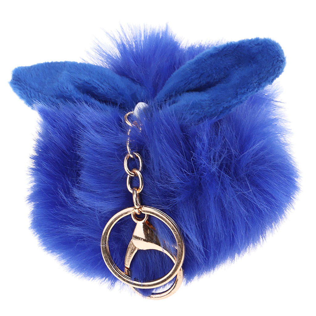 Charm-Handbag-Rabbit-Key-Chain-Key-Ring-Rabbit-Fur-Plush-Ball-Personal-Decor thumbnail 18