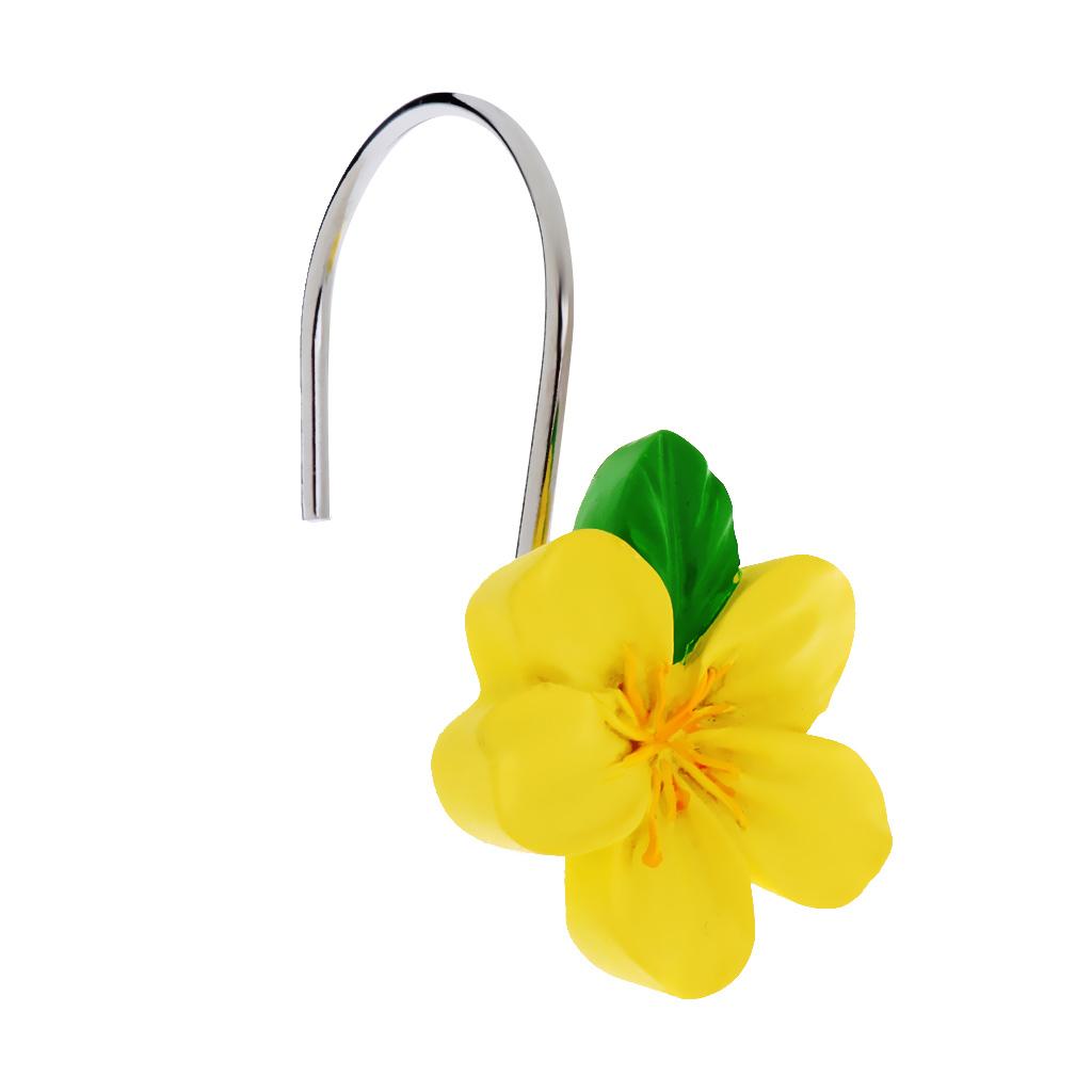 12-Pezzi-di-Ganci-Decorativi-Resina-Fiore-Doccia-Tenda-Gancio-Hook-Supporto miniatura 16