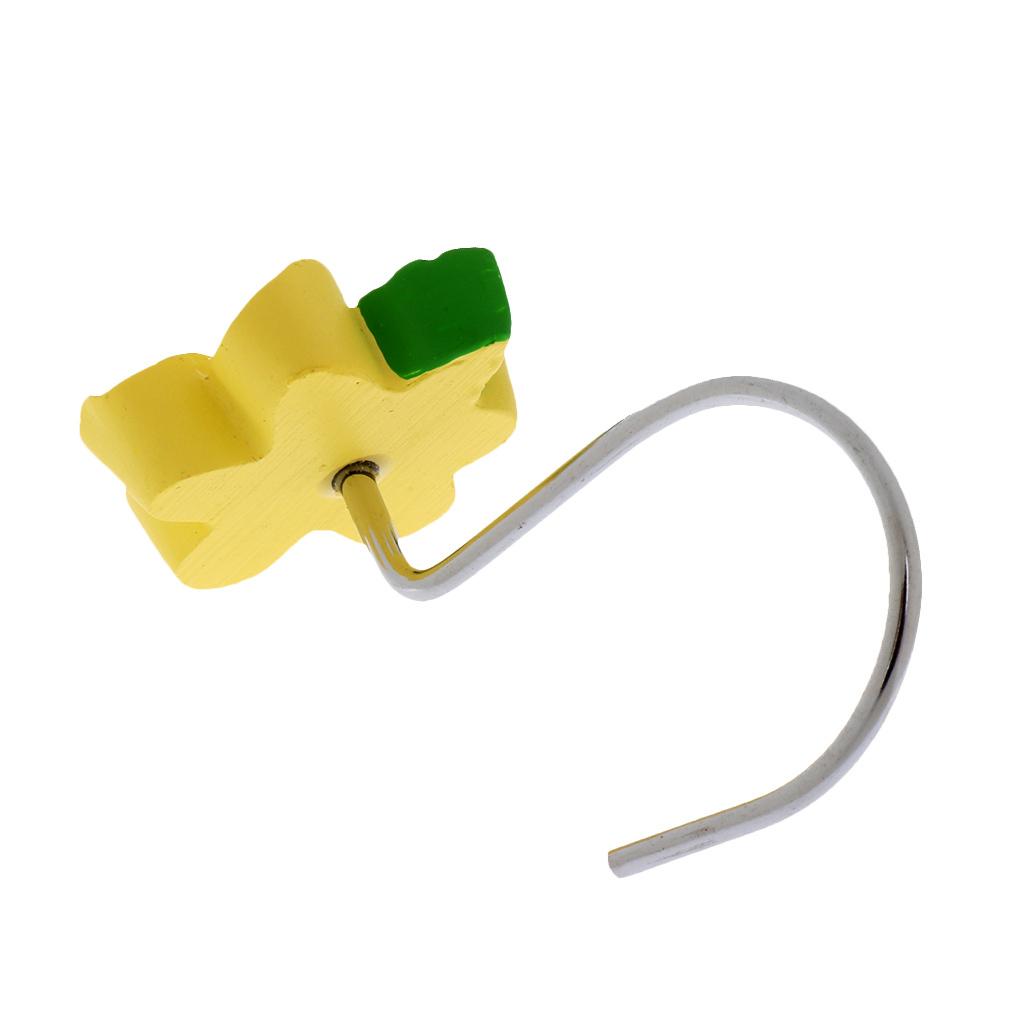 12-Pezzi-di-Ganci-Decorativi-Resina-Fiore-Doccia-Tenda-Gancio-Hook-Supporto miniatura 14