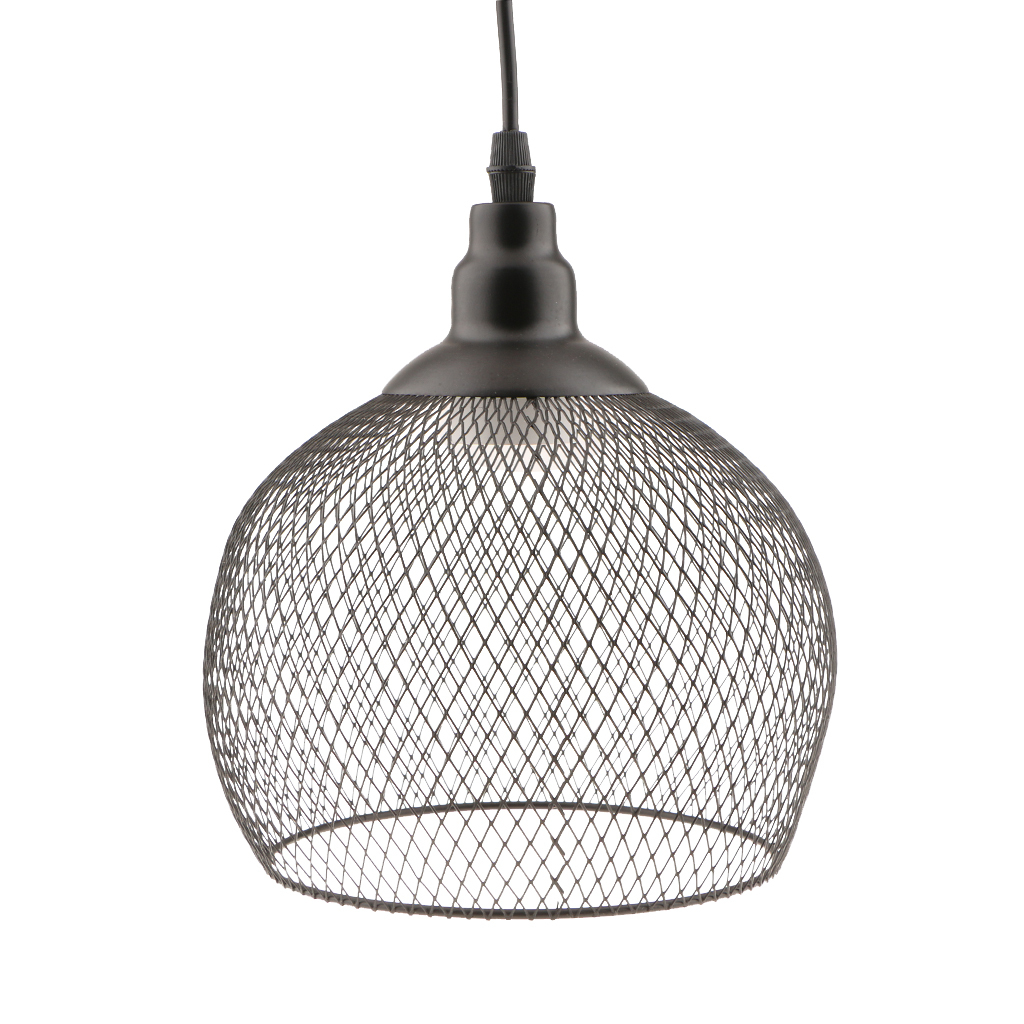 Vintage Retro Lampshade Wire Cage Ceiling Chandelier