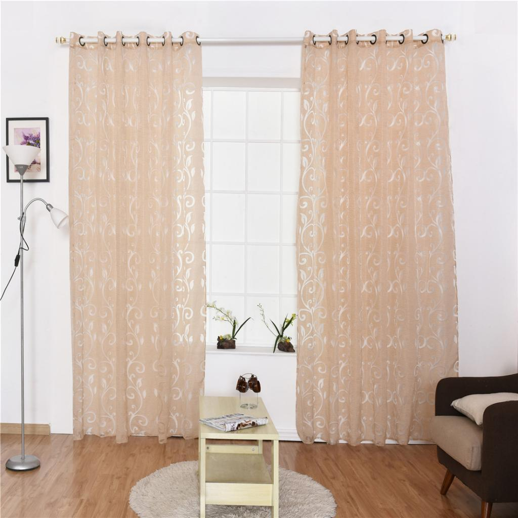 Home Decorative Sheer Voile Curtains Bedroom Balcony Patio