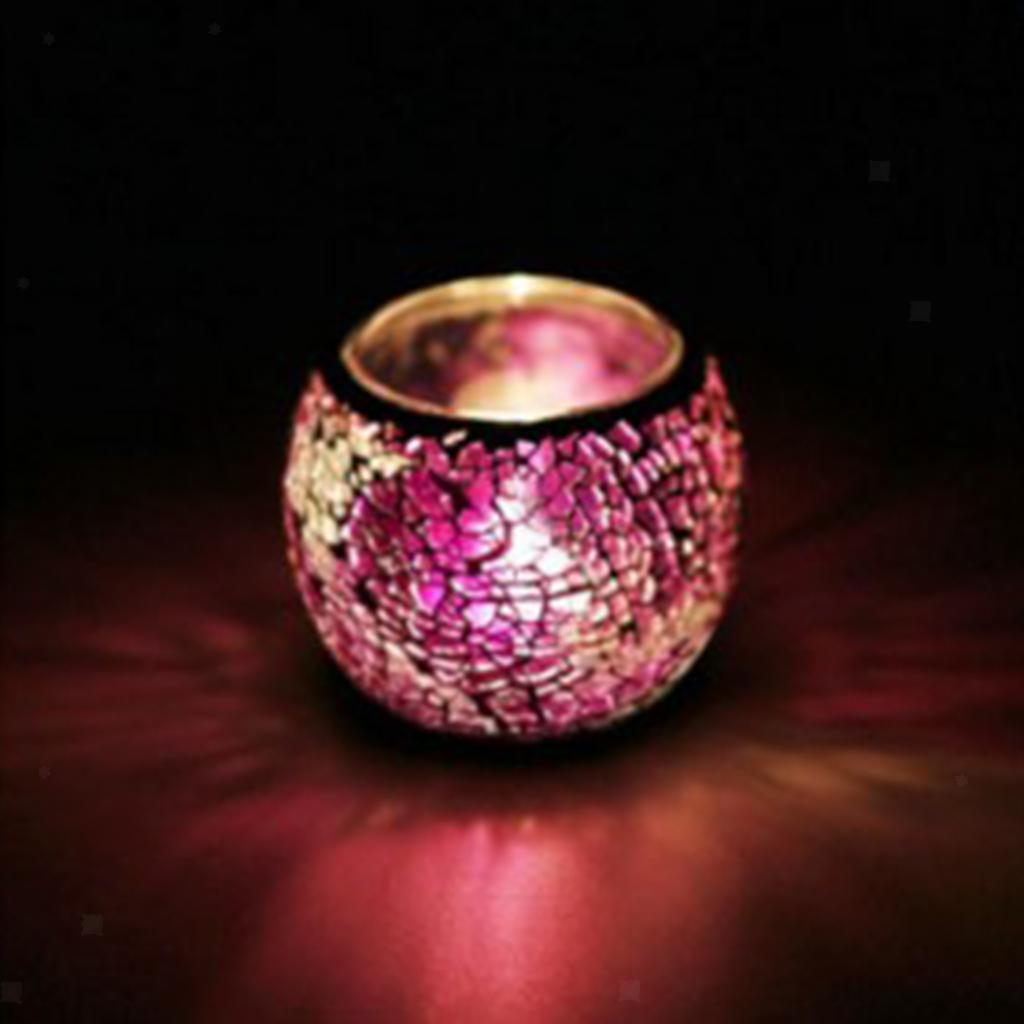 Assorted-Moroccan-Mosaic-Glass-Votive-Candle-Tea-Light-Candelabra-Candlestick thumbnail 36