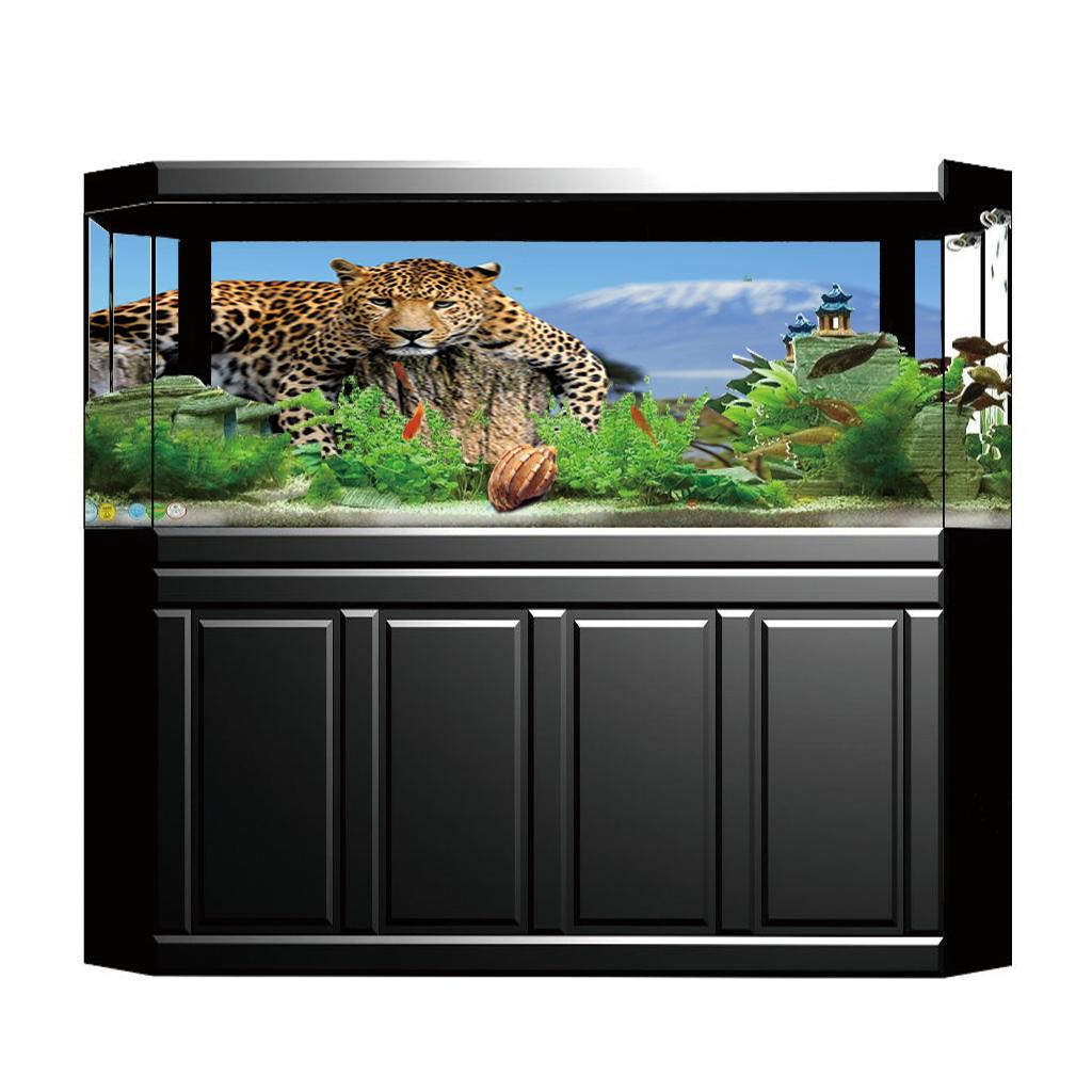 Decorazione-Adesiva-Fondo-3D-Immagina-in-PVC-per-Acquario-Serbatoio-da miniatura 23