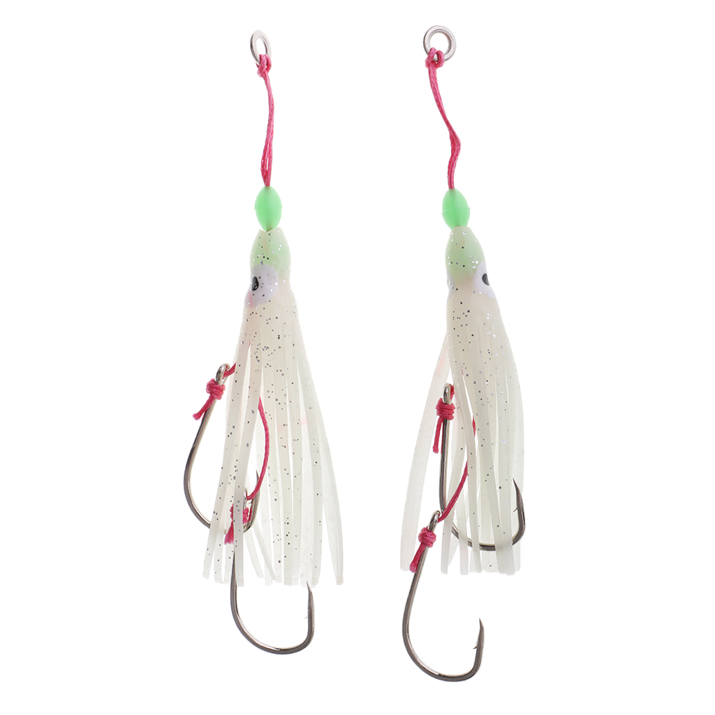 10x Silicone Octopus Squid Skirts Lures Saltwater Trolling Fishing Lures