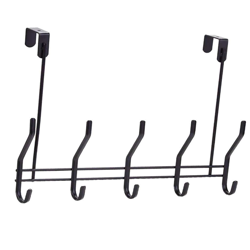 Over-The-Door-Hook-Rack-Iron-5-Hooks-Hanger-Storage-Holder-Hanging-Coat-Hat thumbnail 6