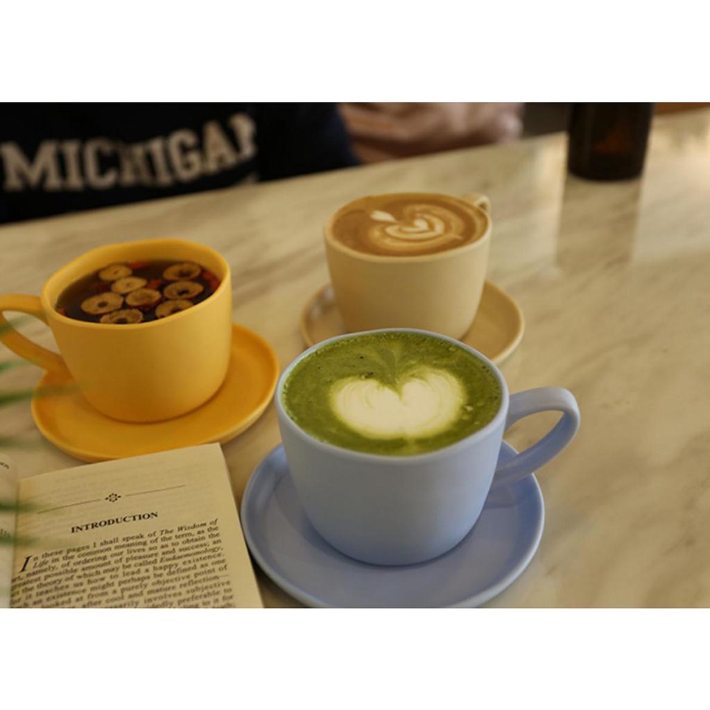 Dinnerware-Set-of-3-Service-Cup-Coffee-Mug-Salad-Bowl-with-Saucer-Plate thumbnail 16
