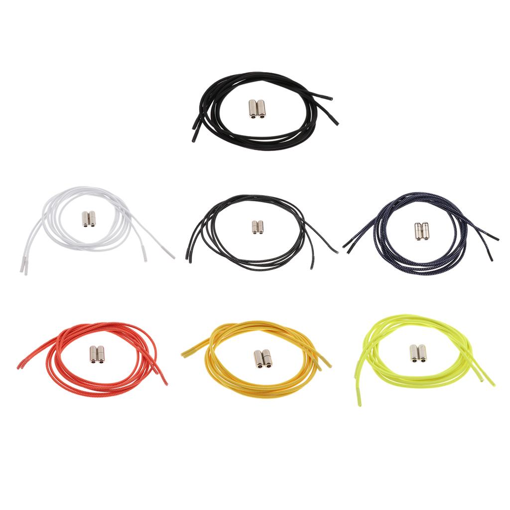 2pcs-ensemble-unisexe-aucune-cravate-lacets-elastiques-lacets-en miniature 4
