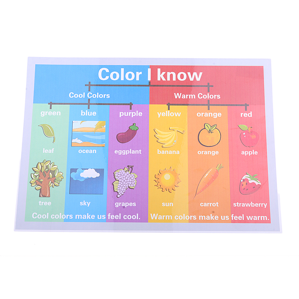 educational learning posters preschool kids toddlers colors weather