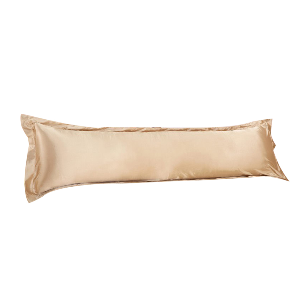 thumbnail 10 - Solid Color Luxury Silk Body Full Long Pillow Pillow Case Cover Pillowcase