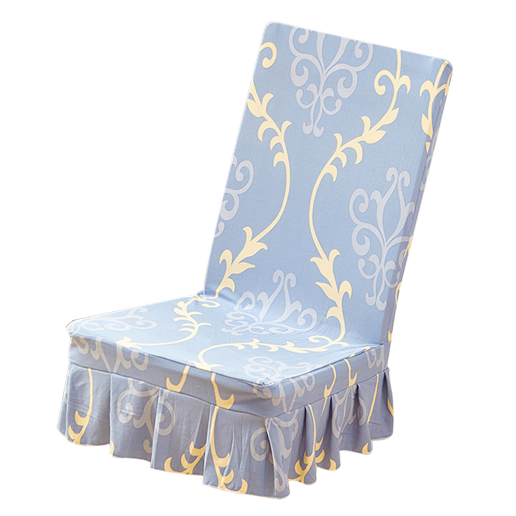 Floral Folding Chair Cover Dinning Chair Slipcover For