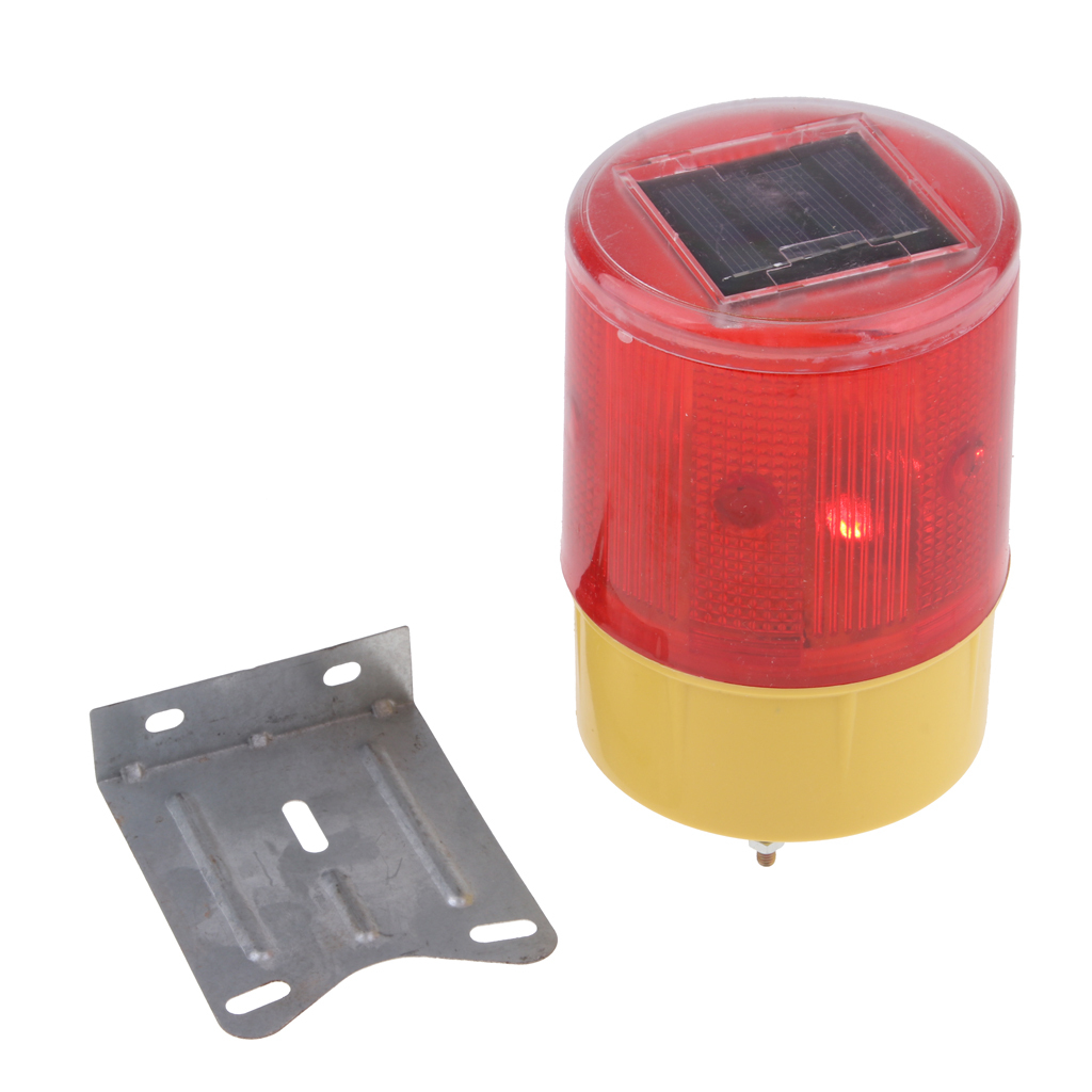thumbnail 3 - Solar 3 LED Flashing Amber Strobe Beacon Emergency Warning Light Car Lamp