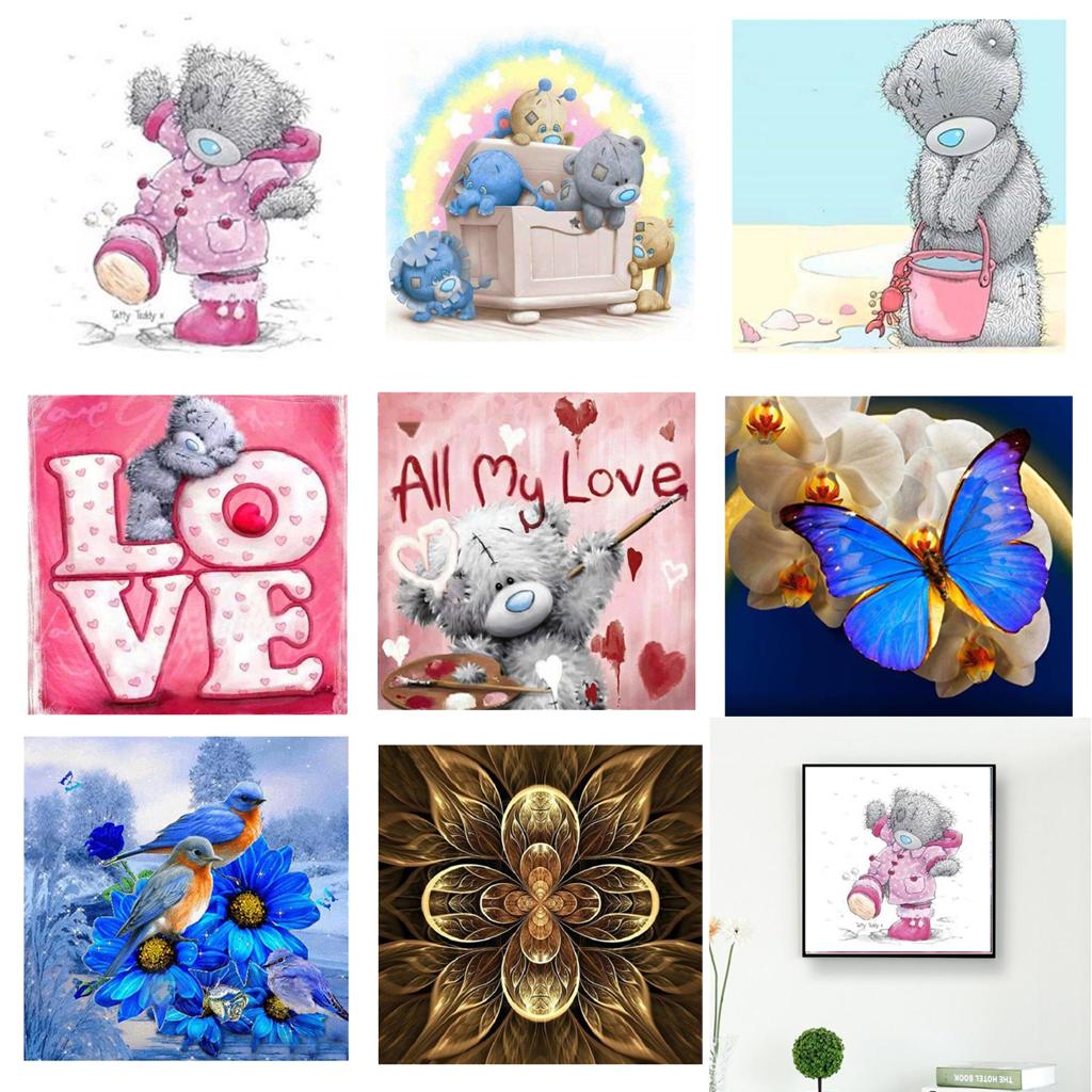 5D Diamond Embroidery Bear Painting Rhinestone Cross Stitch DIY Craft Decoration