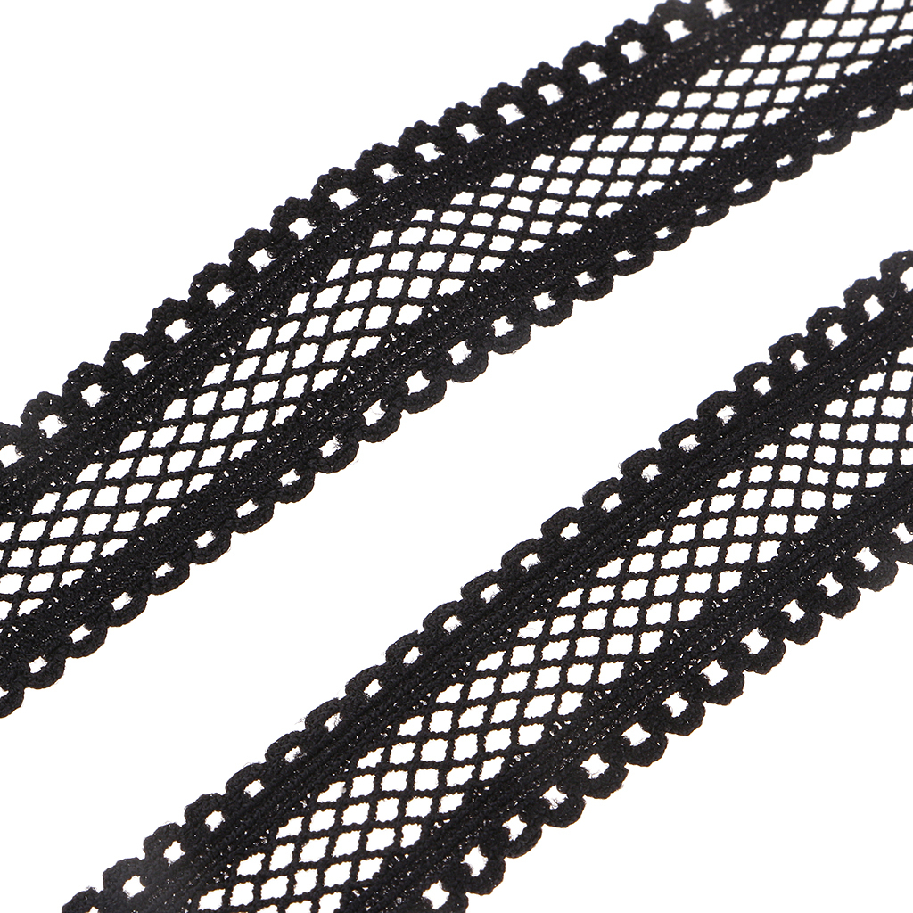 10Yards-18mm-Multirole-Fold-Over-Lace-Trim-Polyester-Elastic-Band-DIY-Sewing thumbnail 8