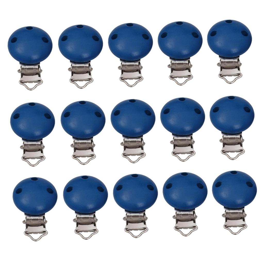 15pcs-rond-sucette-clip-perle-en-bois-bebe-dentition-accessoires-bricolage miniature 27
