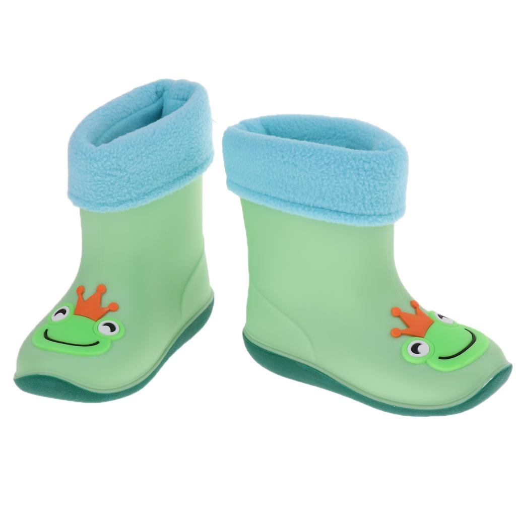 Kids Boys Girls Wellies Rain Boots Light Unisex Children Boots Size 2-5 Years