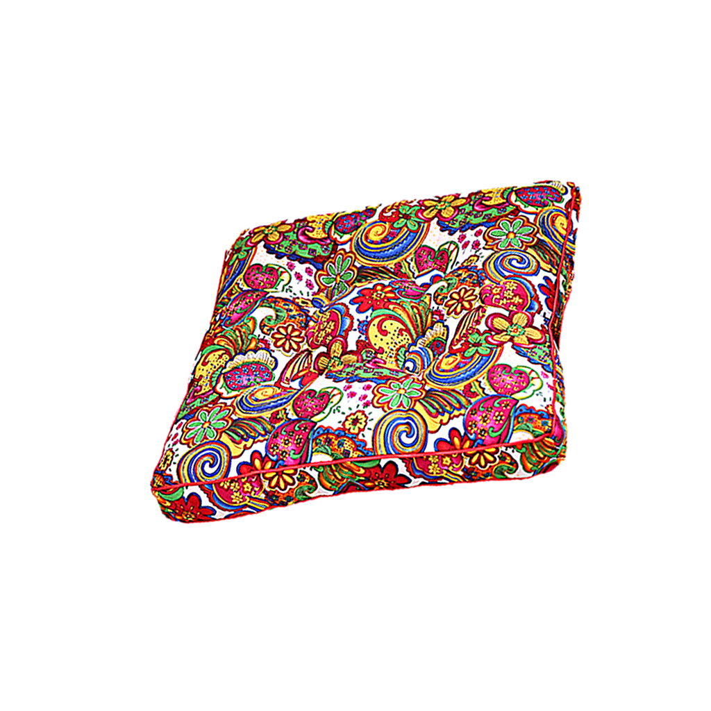 Flowers Pattern Retro Classical Printing Sponge Cotton Seat Cushion Pillow Mat