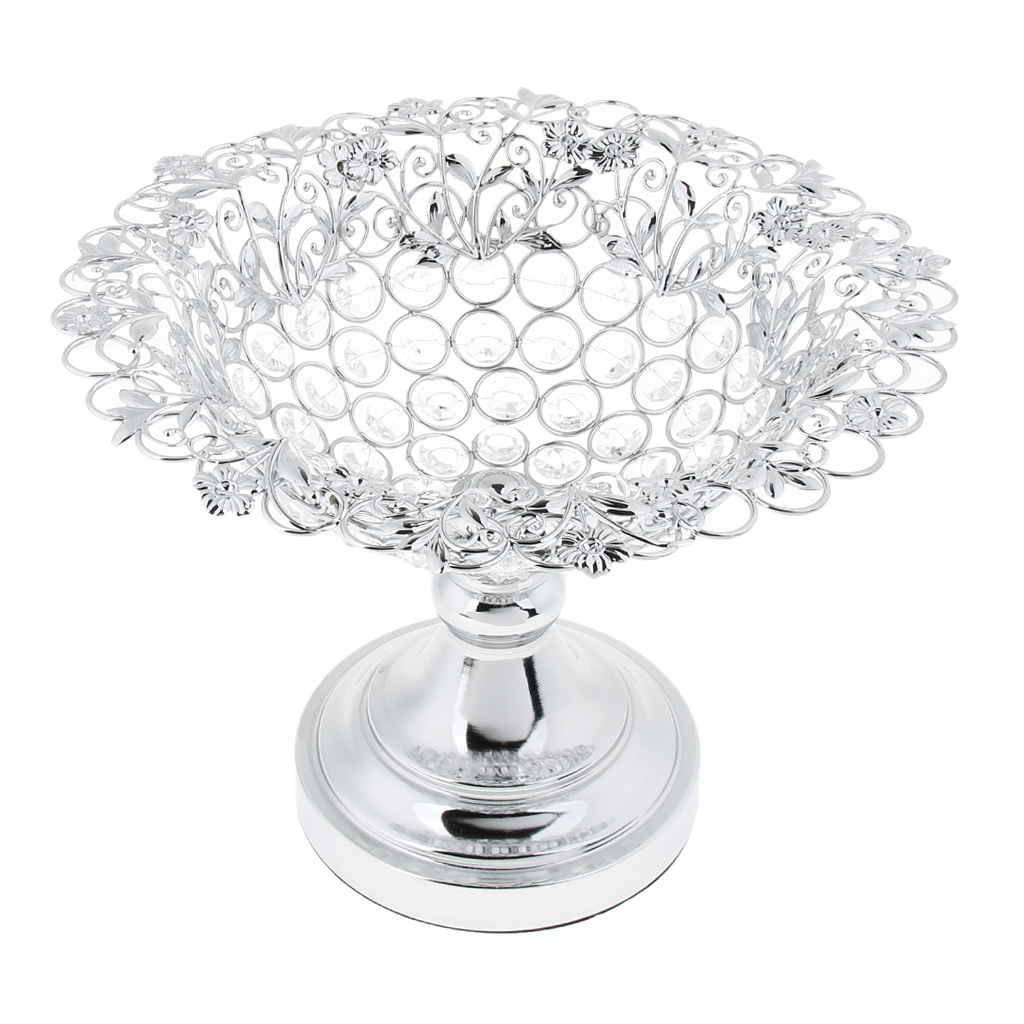 Crystal Bling Wedding Dining Table Decoration Fruit Tray Candy Dish ...