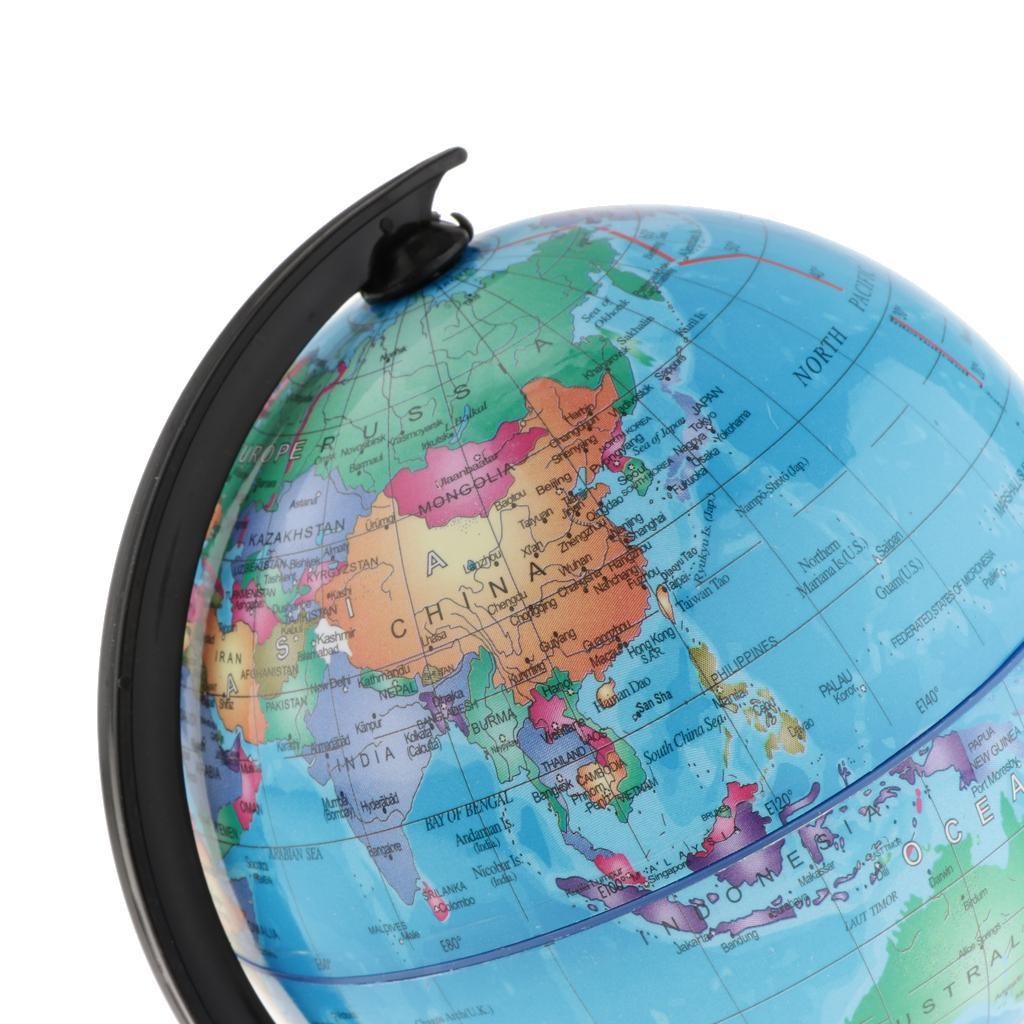 World-Globe-for-Home-Desk-Decoration-Geography-Educational-Toys-16cm-Height thumbnail 3