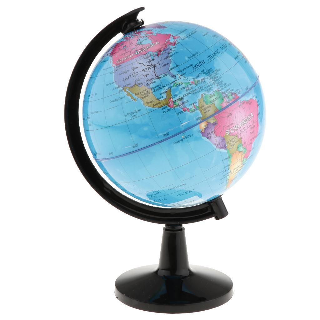 World-Globe-for-Home-Desk-Decoration-Geography-Educational-Toys-16cm-Height thumbnail 4