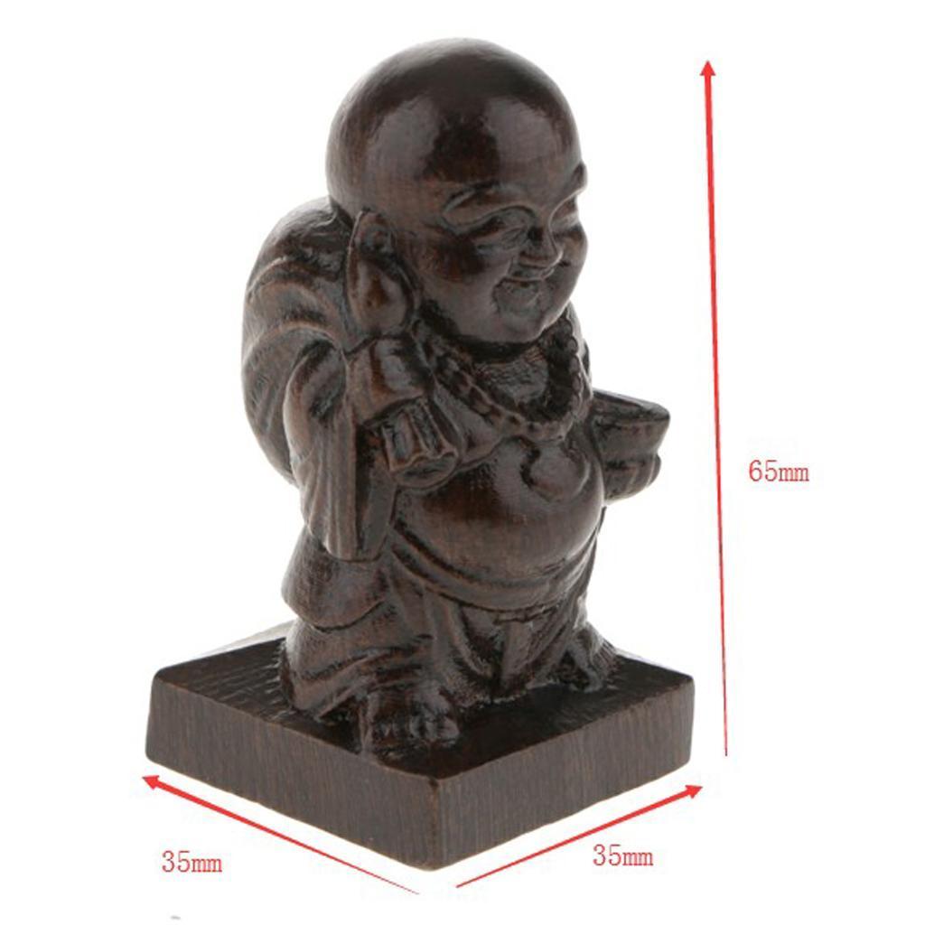 miniatura 8 - Statua Buddista Figurina Artigianale Ornamenti Supporto Tavolo Legno