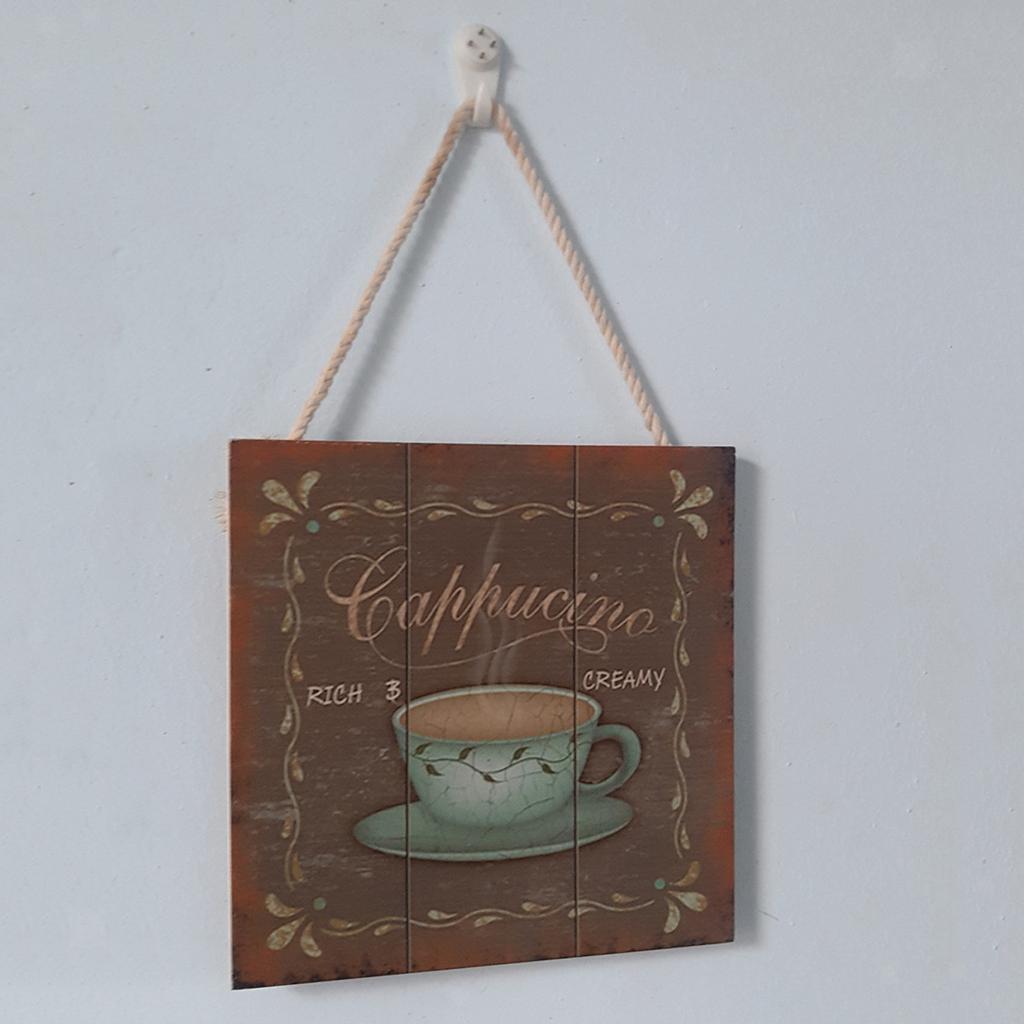 Targa-di-legno-del-segno-d-039-annata-per-la-decorazione-del-caffe miniatura 18