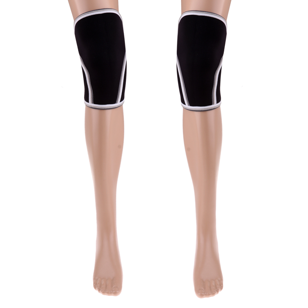 1-Pair-7mm-Knee-Sleeves-Powerlifting-Weightlifting-Brace-Support-Pain-Relief thumbnail 13