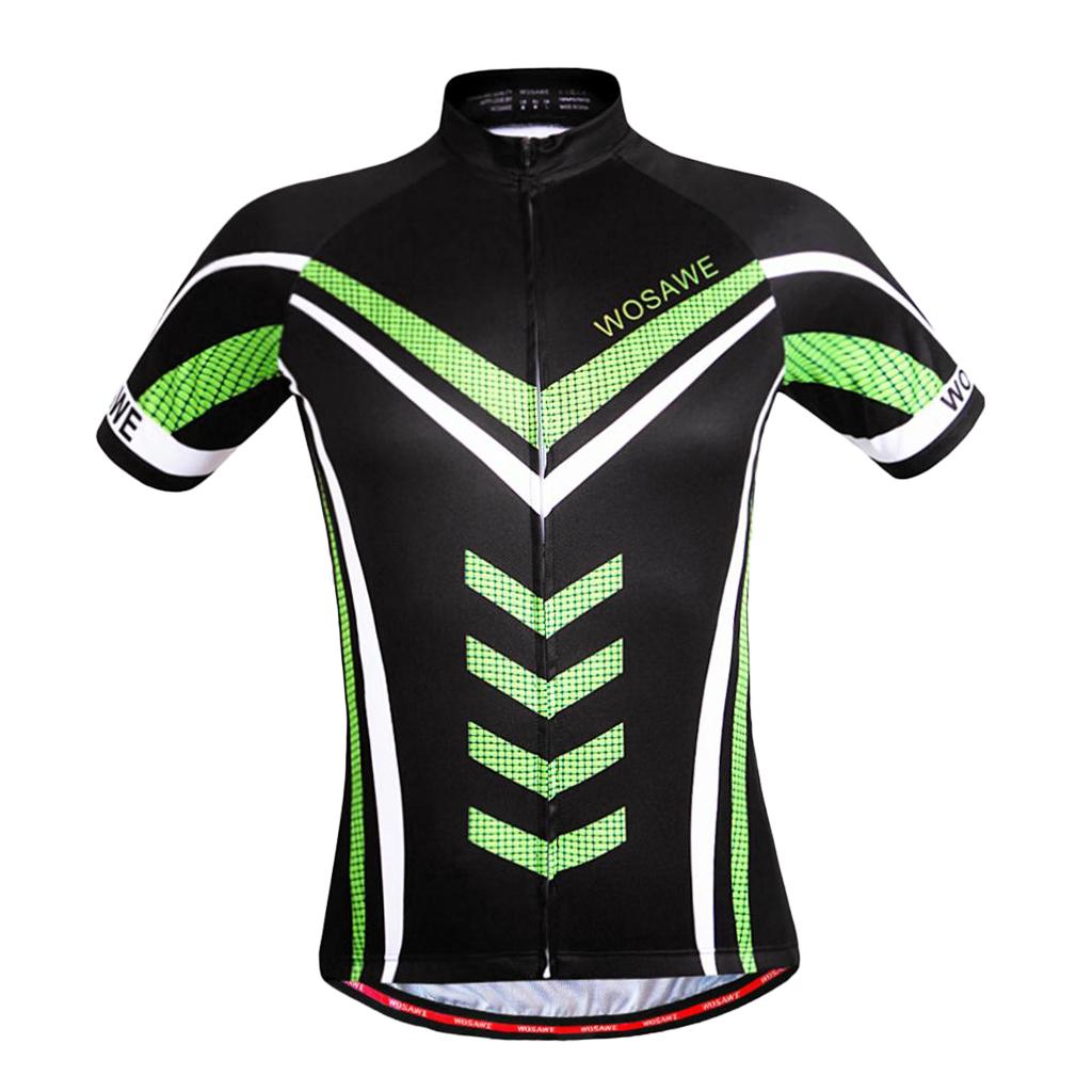 Homme-Maillots-De-Cyclisme-Velo-a-Manches-Courtes-Respirant-T-Shirt miniature 13
